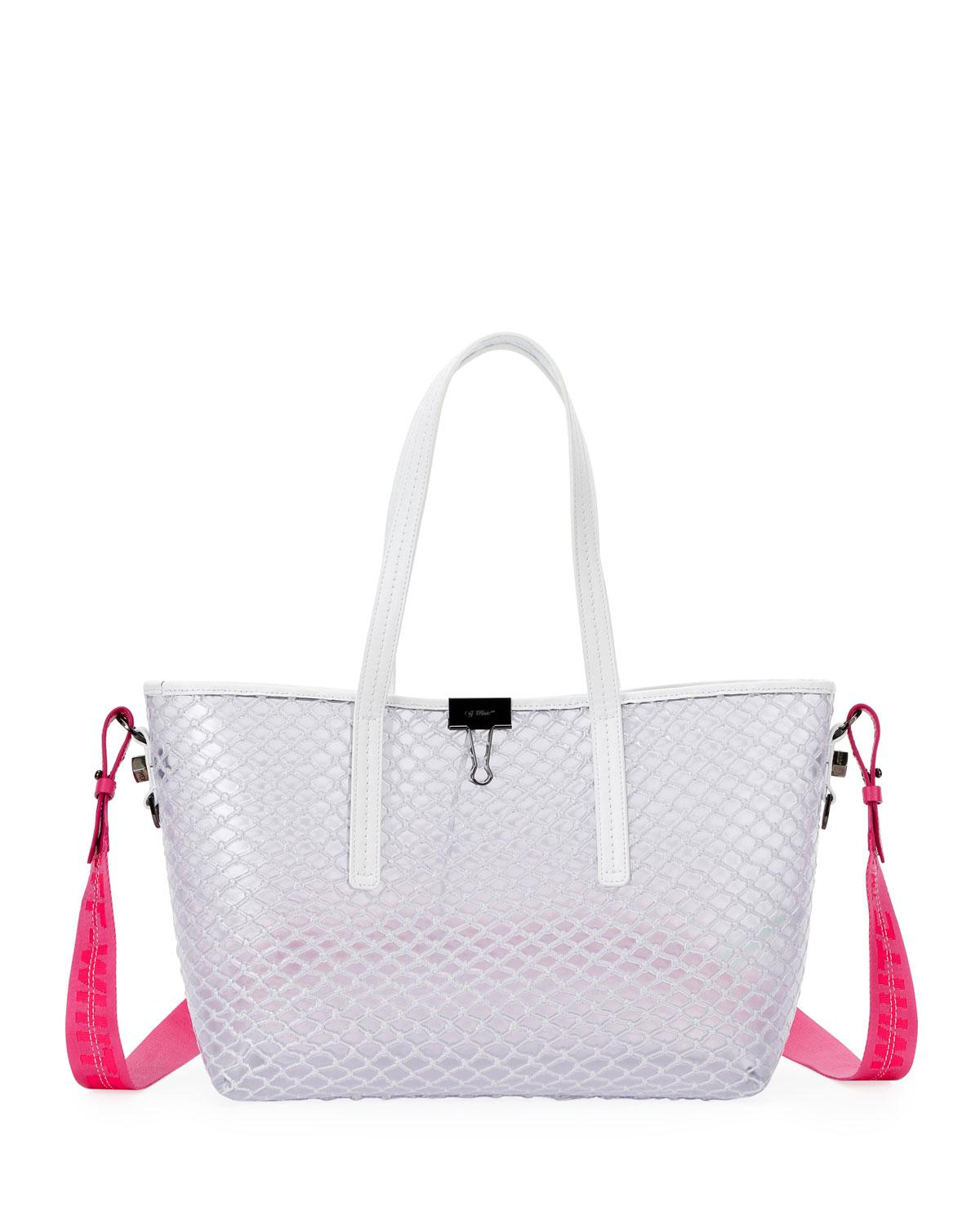 be2a100eed51 Lyst - Off-White c o Virgil Abloh Pvc Net Shopper Tote Bag in White