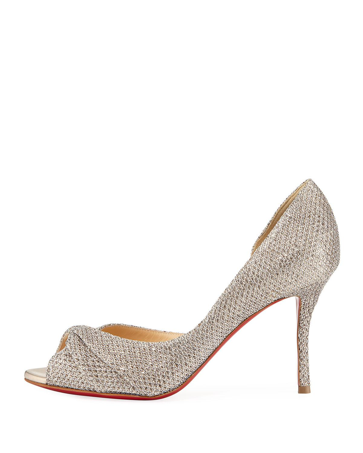 60555c5a137 ... italy lyst christian louboutin courvampa glitter red sole pump in  metallic 86e04 b85a3