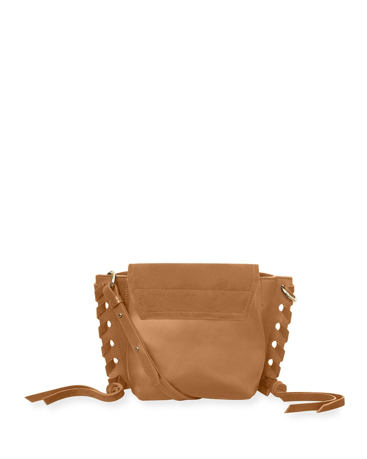 18032cdd6559 Lyst - Isabel Marant Kleny Suede And Leather Crossbody Bag in Brown - Save  36%