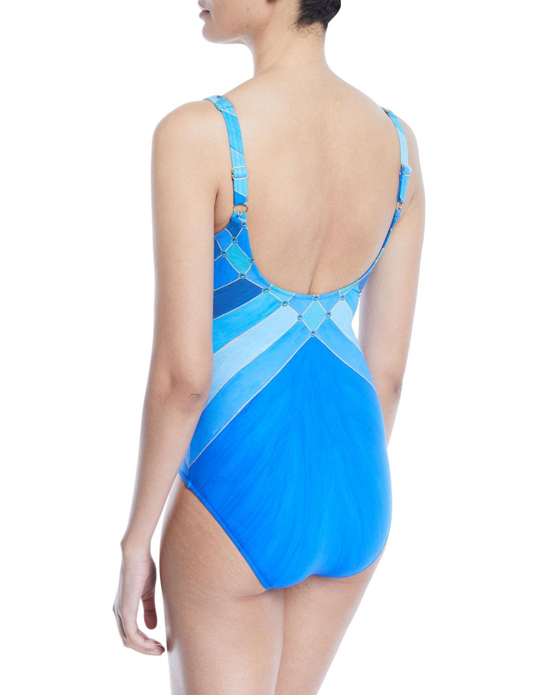 ec3e7ffef Gottex - Blue Mystic Gem Printed One-piece Swimsuit - Lyst. View fullscreen