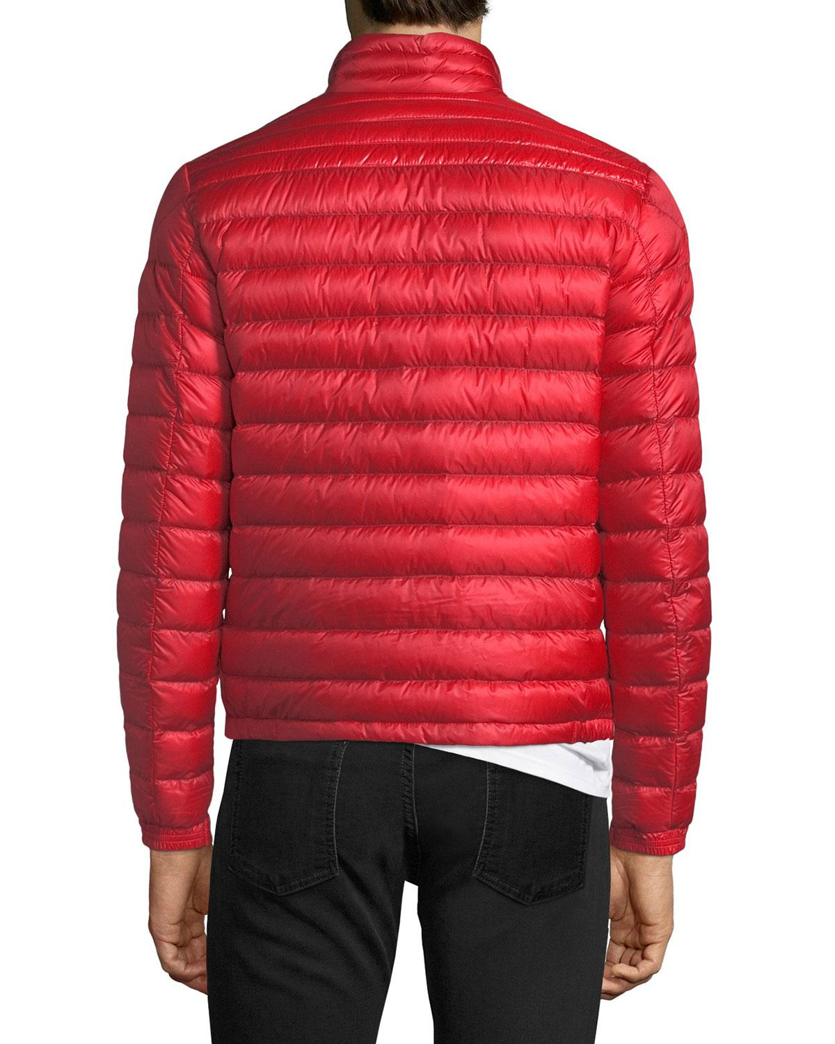 978161e80 Lyst - Moncler Daniel Quilted Puffer Jacket in Red for Men