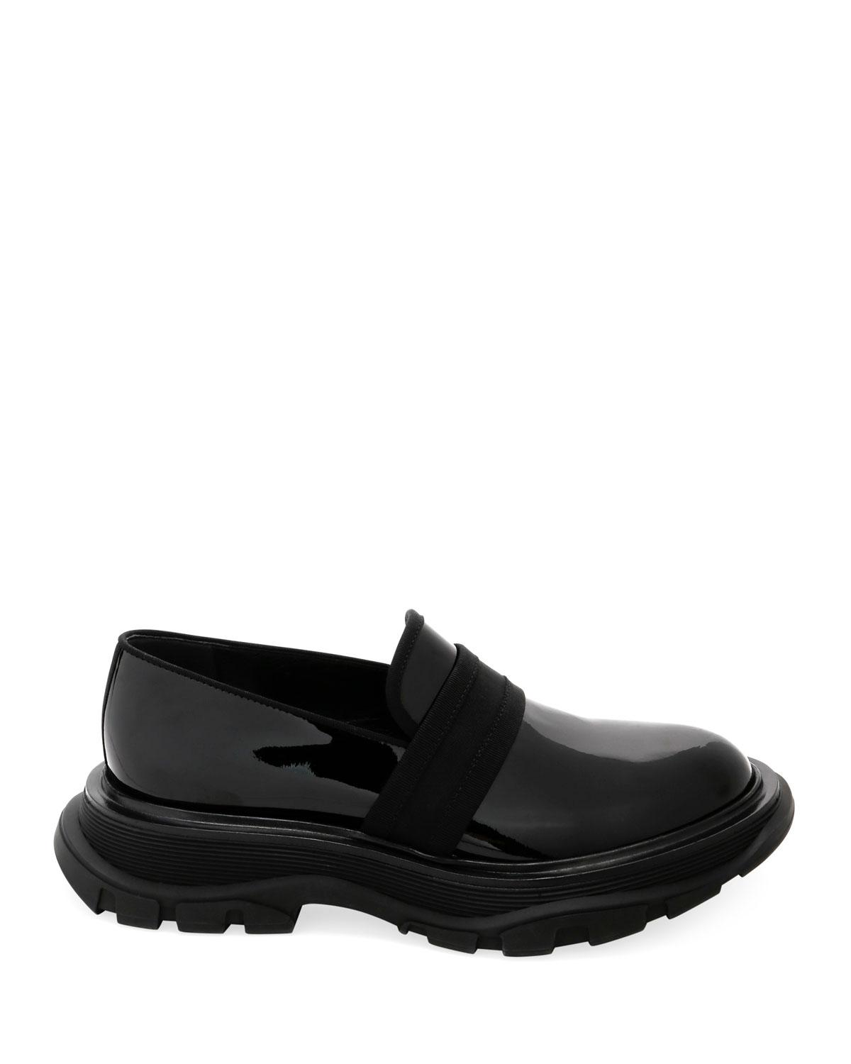 8edf313c238 Lyst - Alexander McQueen Men s Leather Thick Rubber Sole Dress Shoe in Black  for Men