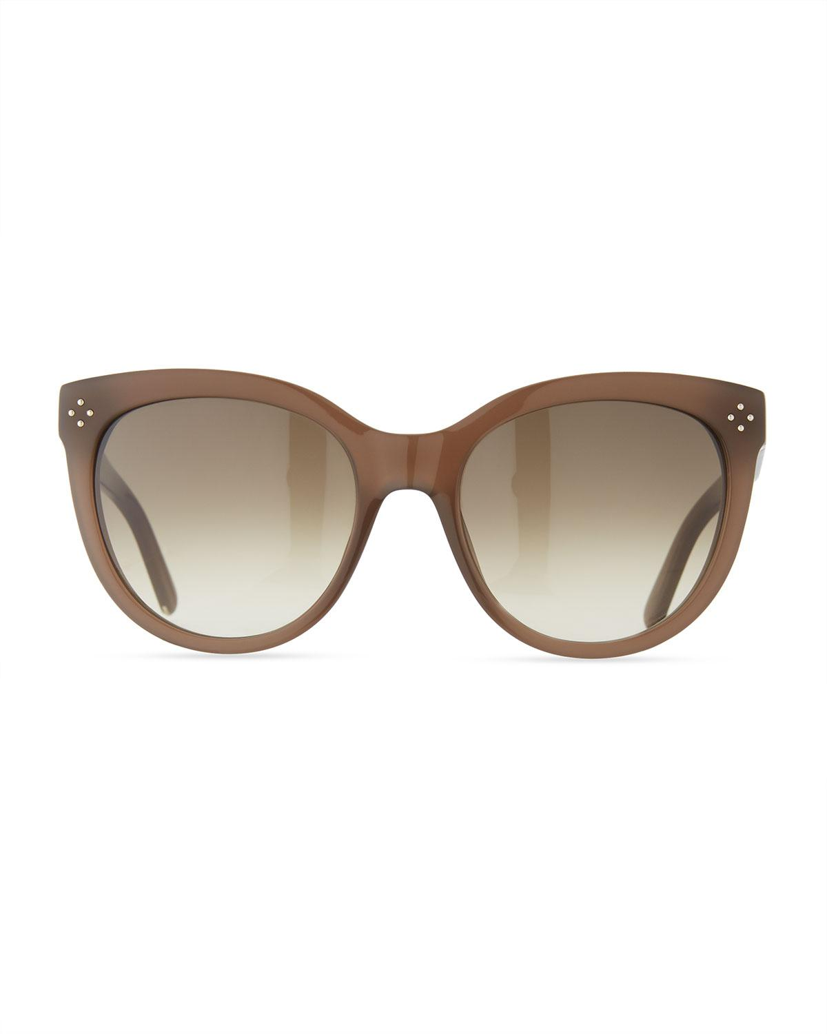 169a847fc9a2 Lyst - Chloé Boxwood Modified Cat-eye Sunglasses in Gray