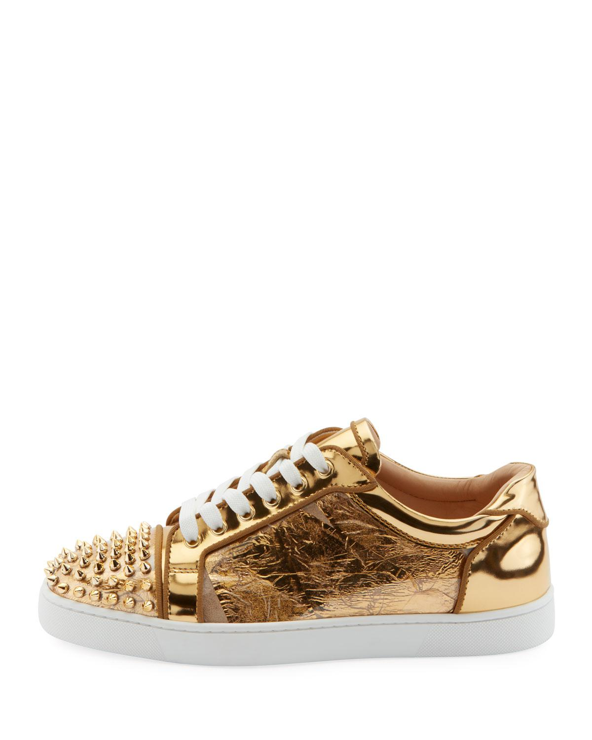 1e3c44bfd0ae Lyst - Christian Louboutin Men s Seavaste Spike Low-top Sneakers in  Metallic for Men