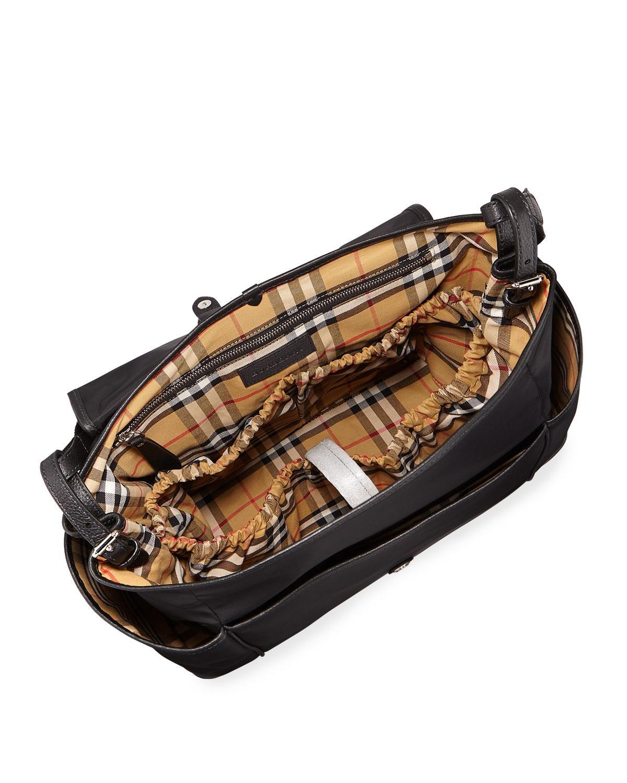 8de82af40ce7 Lyst - Burberry Flap-top Canvas Diaper Bag in Black for Men