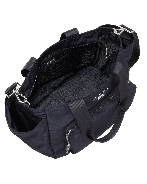 8af7ae3a7c6f ... discount code for lyst prada vela nylon baby bag in black c4f89 034c6