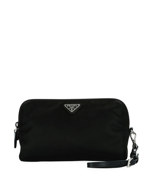 e6853811f6 Prada - Black Nylon Cosmetics Pouch - Lyst. View fullscreen