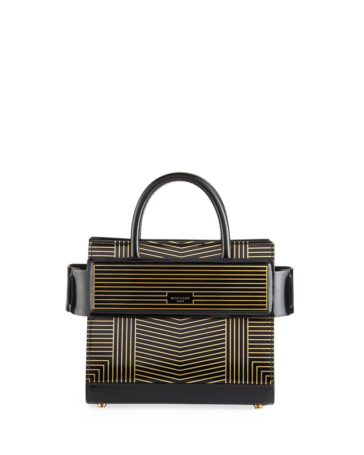 6ccdaa56dc3 Givenchy Horizon Striped Leather Mini Bag in Black - Lyst