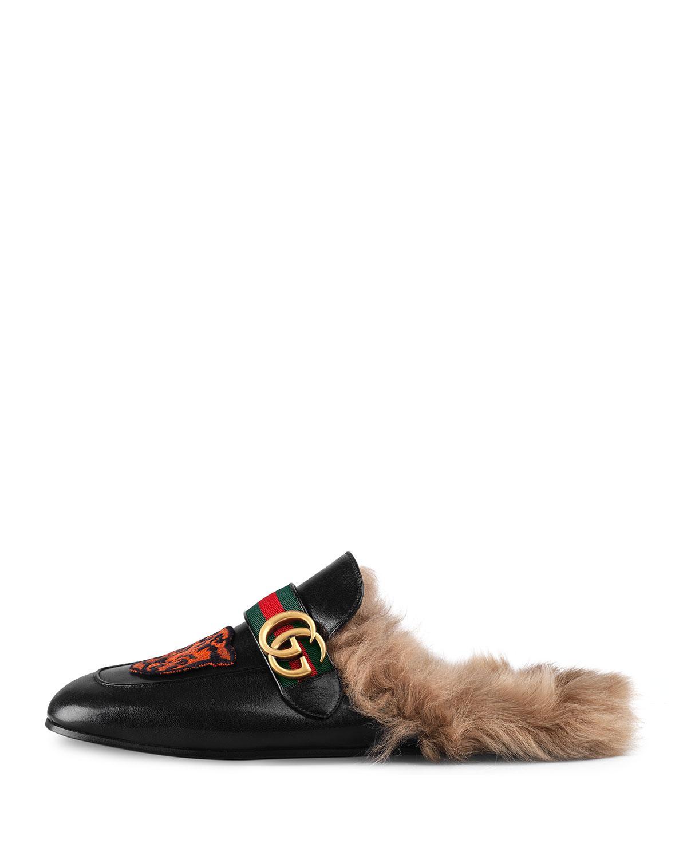 34c9d13e91b Lyst - Gucci Princetown Mules in Black - Save 5%