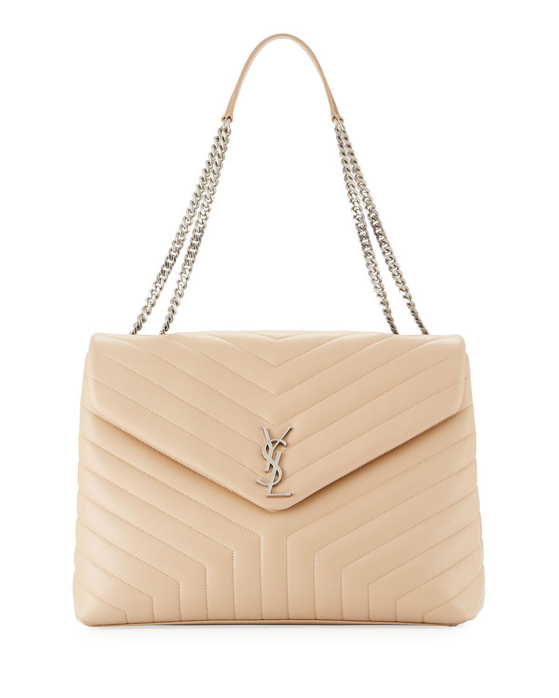 72afbff49 Saint Laurent Loulou Monogram Ysl Large V-flap Chain Shoulder Bag ...