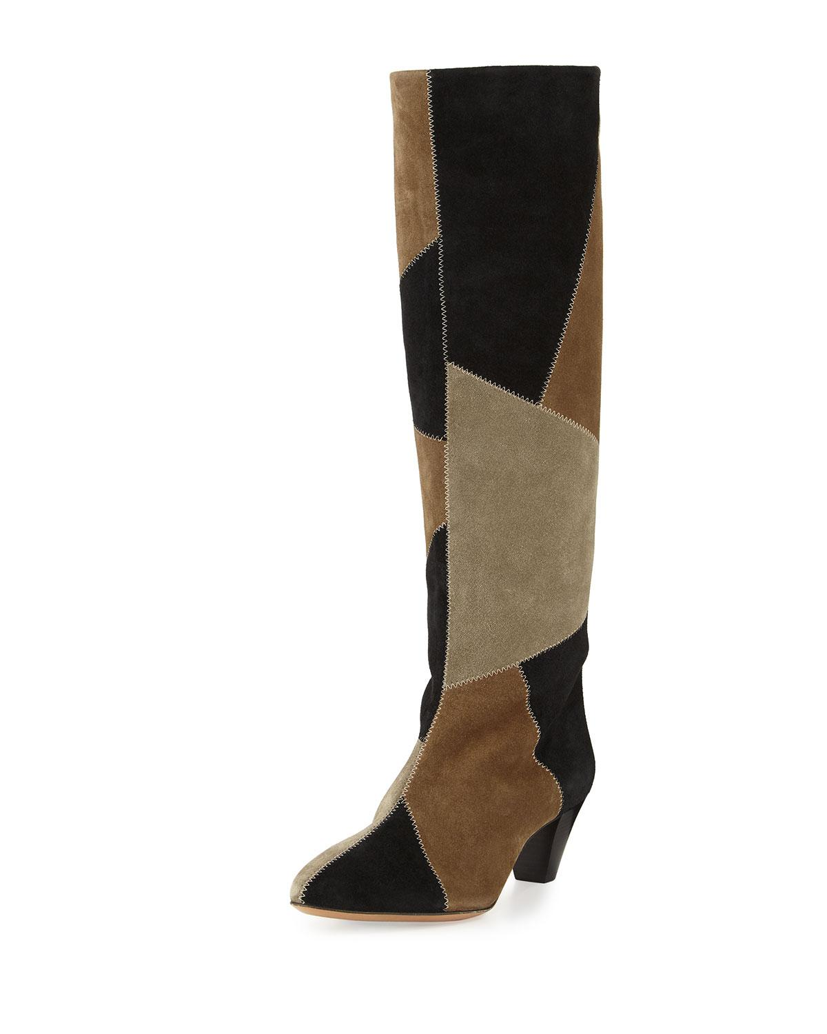 Lokyo Glossed-leather Knee-high Boots - Black Isabel Marant 191DYTY9S