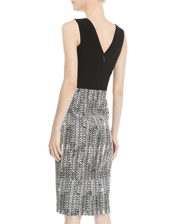 0a34f5db Lyst - Jason Wu Sleeveless Herringbone-jacquard Sheath Cocktail Dress in  Black - Save 63%