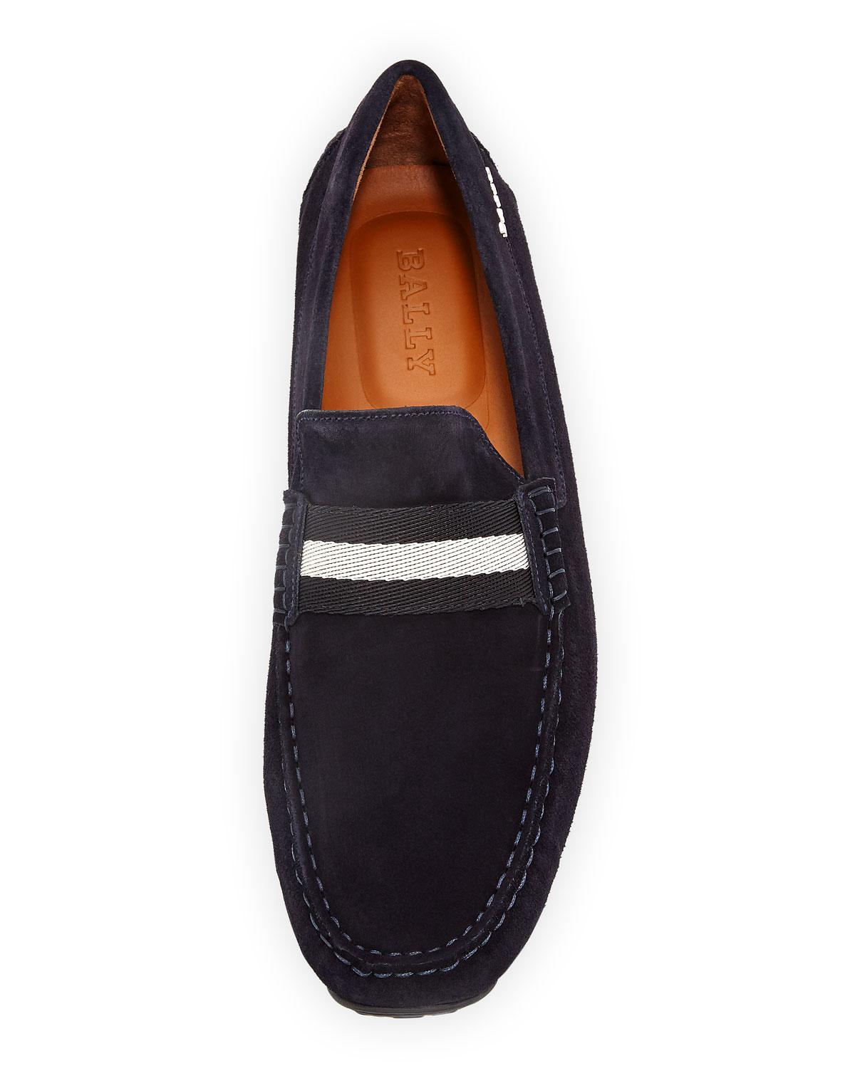 ed551ce0d1e Lyst - Bally Pearce Suede Leather Driver in Blue for Men - Save 17%
