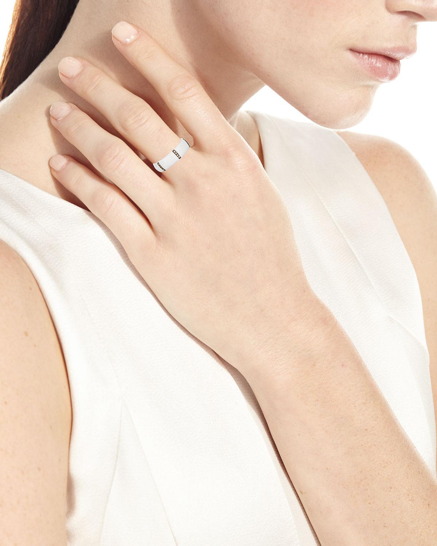 Armenta Old World Diamond Wide Enamel Stack Ring Ay5NIOX