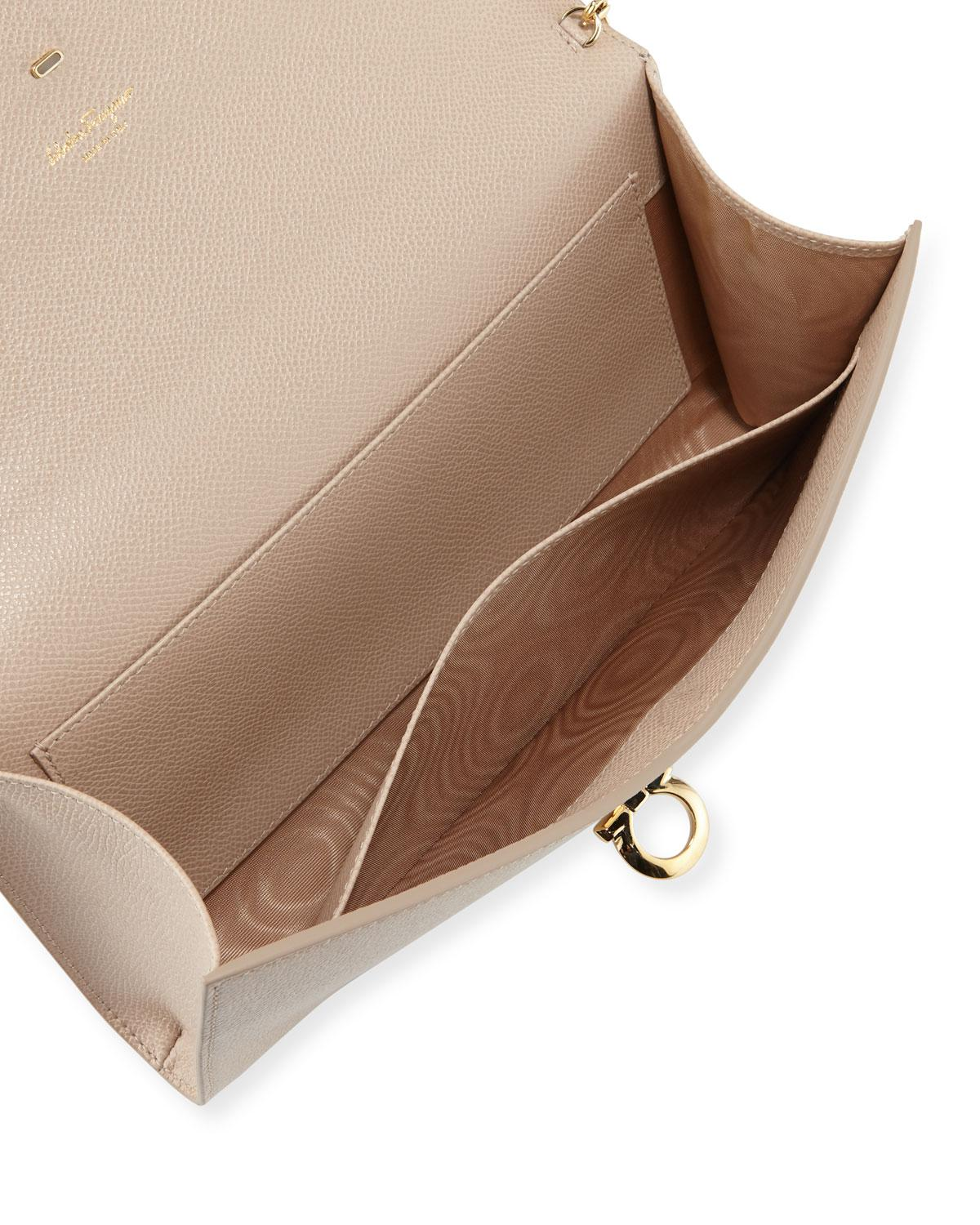 7b7759a3a516 Lyst - Ferragamo Gancini Icona Mini Bag in Natural