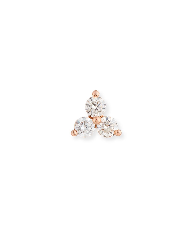EF Collection Diamond Bezel Single Stud Earring TGi8VYbzh