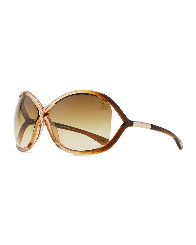 4a9aef96a0 Tom Ford - Pink Whitney Cross-bridge Sunglasses - Lyst. View fullscreen