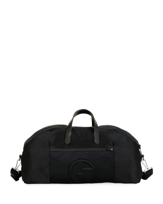 Lyst - Giorgio Armani Men s Nylon Carryall Duffel Bag in Black for Men 95db610c98505