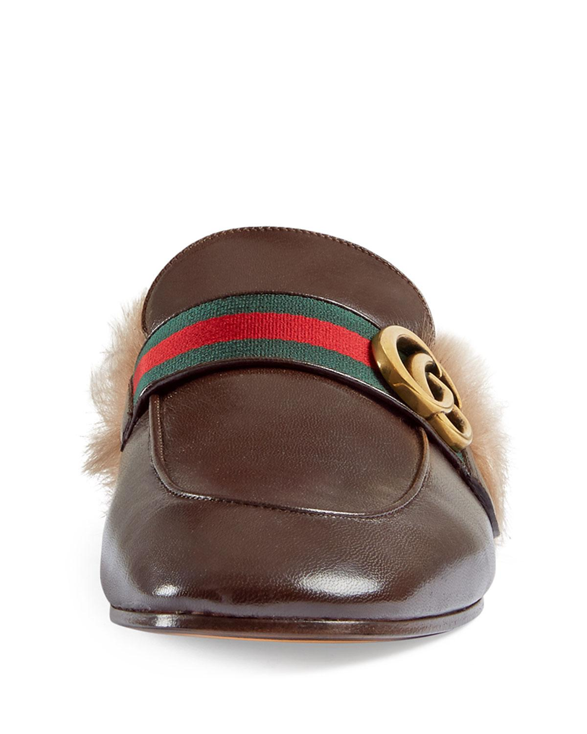 8090e3e9b5d Gucci New Princetown Leather Slippers in Brown for Men - Save 4% - Lyst
