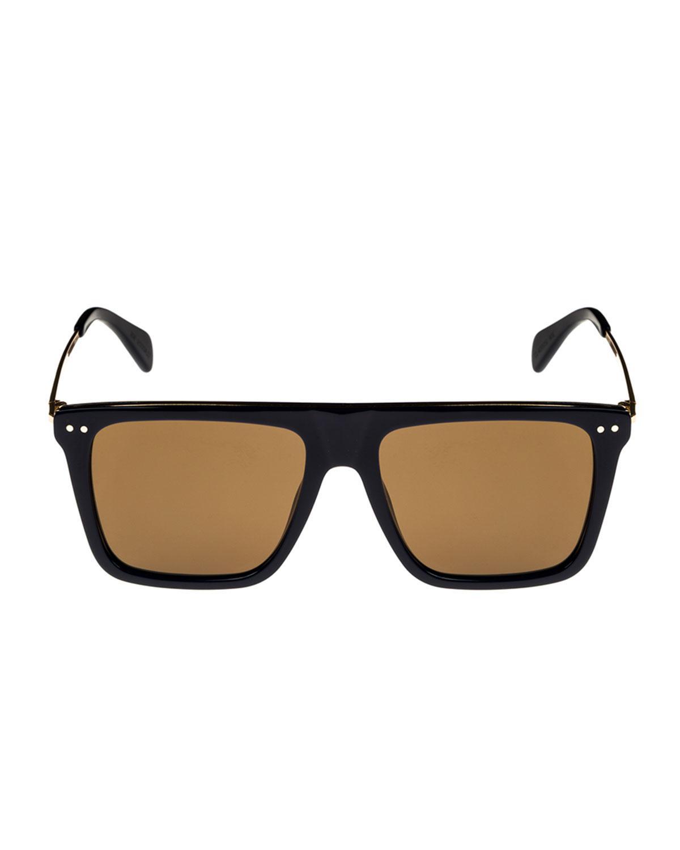 e5cb92ac67d9 Céline bold rectangular acetate metal sunglasses in blue for men lyst jpg  1200x1500 Celine mens sunglasses