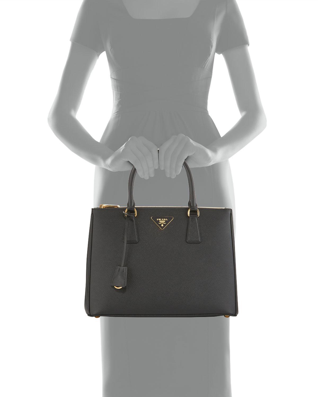 1ab9f4f17612fe ... promo code prada black galleria medium saffiano tote bag lyst. view  fullscreen 34c7b f32c5