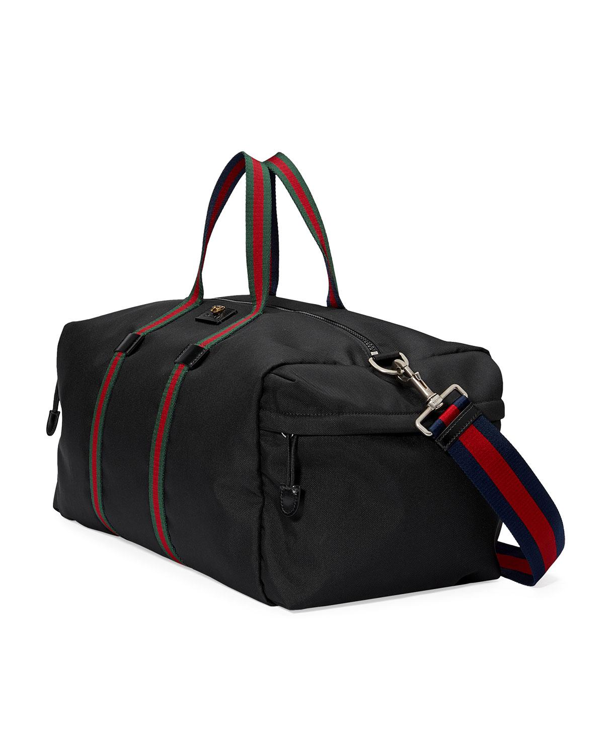 8a7f21274390cb Gucci Technical Canvas Duffle Bag in Black for Men - Lyst