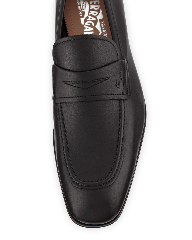 bd29b7b8832 Lyst - Ferragamo Men s Alred Leather Penny Loafers in Black for Men