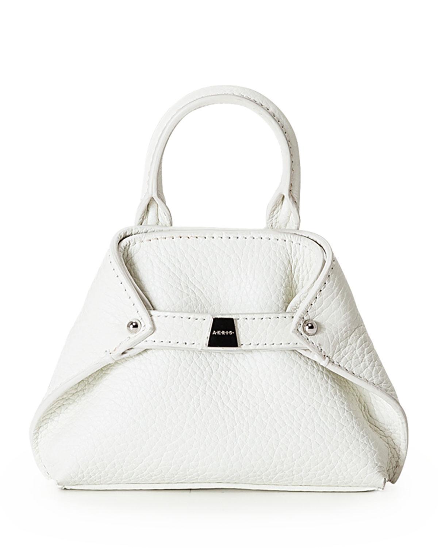 7aa696c5b0 Lyst - Akris Ai Nano Grained Leather Messenger Bag in White