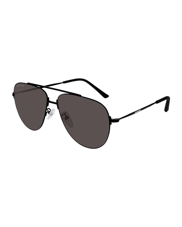 79a91879d187 Balenciaga - Black Men's Unisex Metal Aviator Sunglasses for Men - Lyst.  View fullscreen