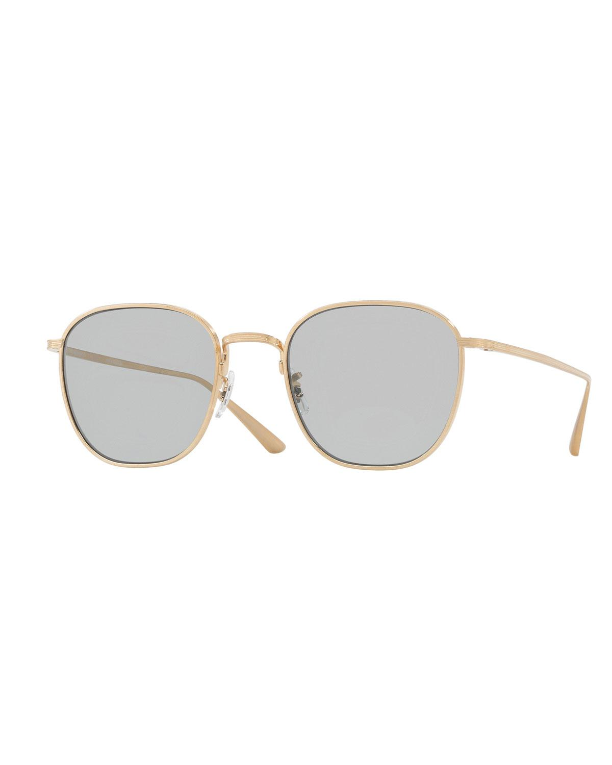 1089da4df82 Lyst - Oliver Peoples Board Meeting Square Photochromic Titanium ...
