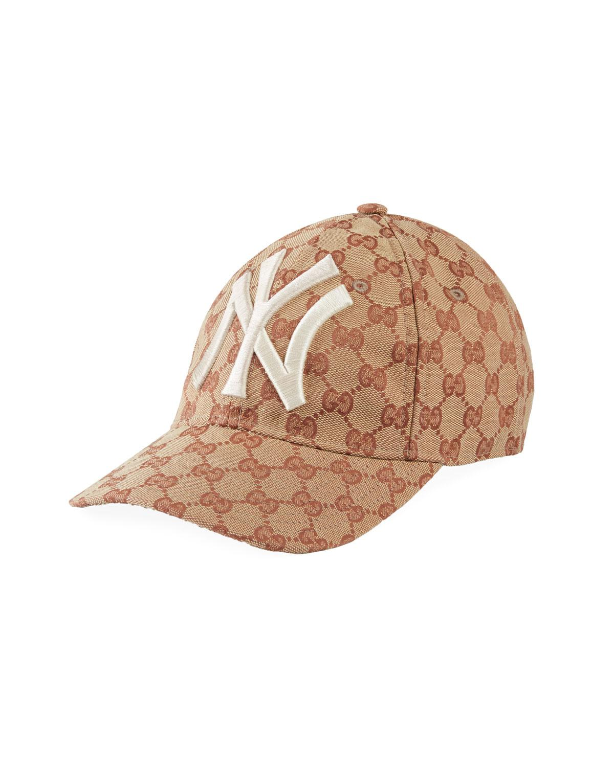 Lyst - Gucci Men s Logo-print Baseball Cap With New York Yankees ... 5378e478d376