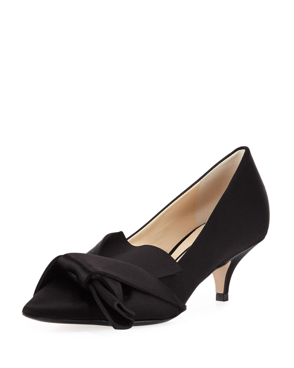 b75356b4aa Lyst - N°21 Satin Pumps With Knotted Bow in Black