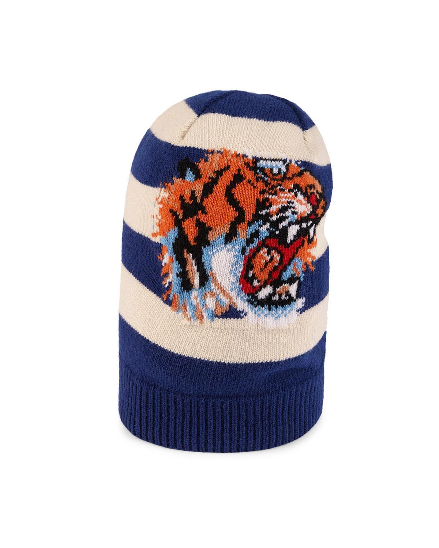 Chapeau De Laine Avec Tigre - Gucci Bleu FIRpvIG6