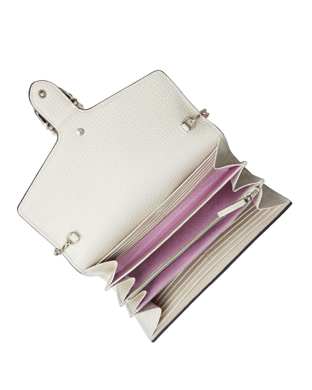 e94991551daa Lyst - Gucci Dionysus Mini Leather Chain Bag in White