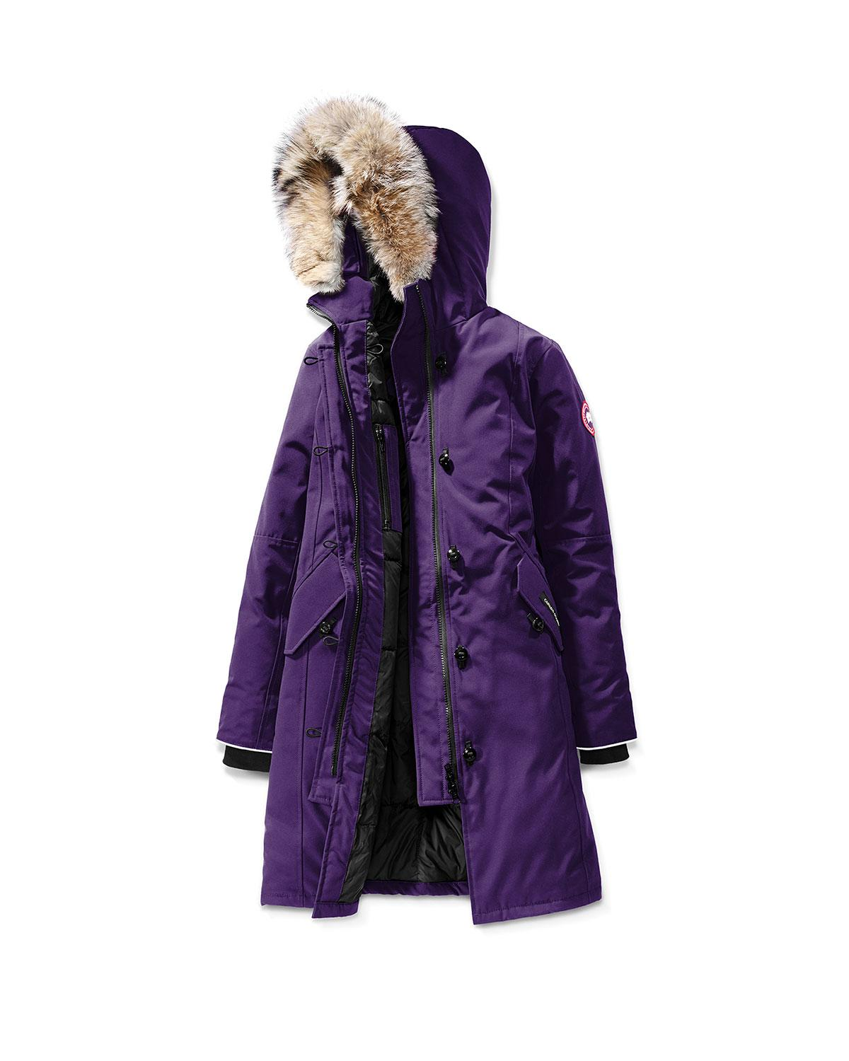 1865ed97c3b Lyst - Canada Goose Youth Brittania Parka With Removable Fur Trim in ...