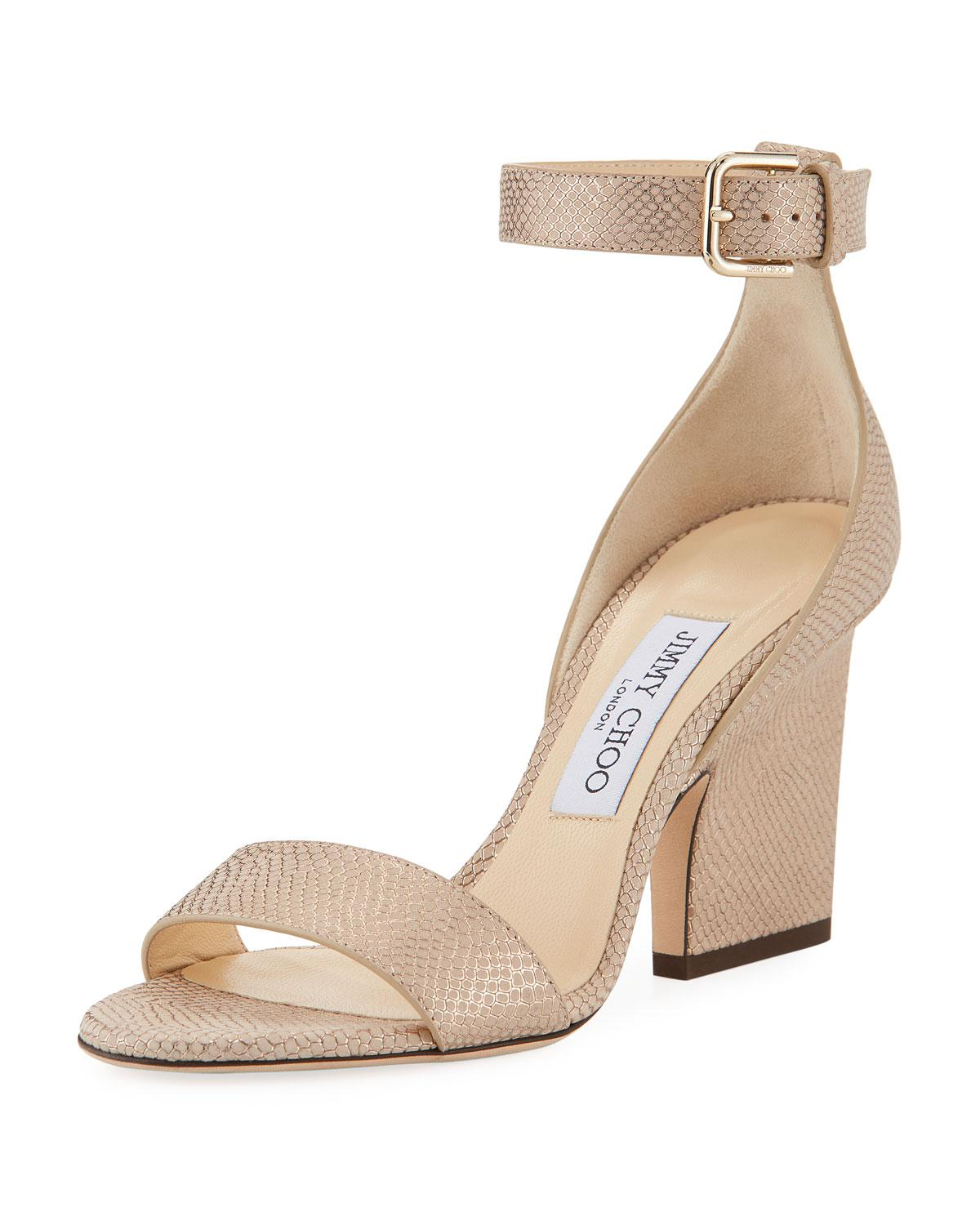 Mischa woven sandals - Metallic Jimmy Choo London