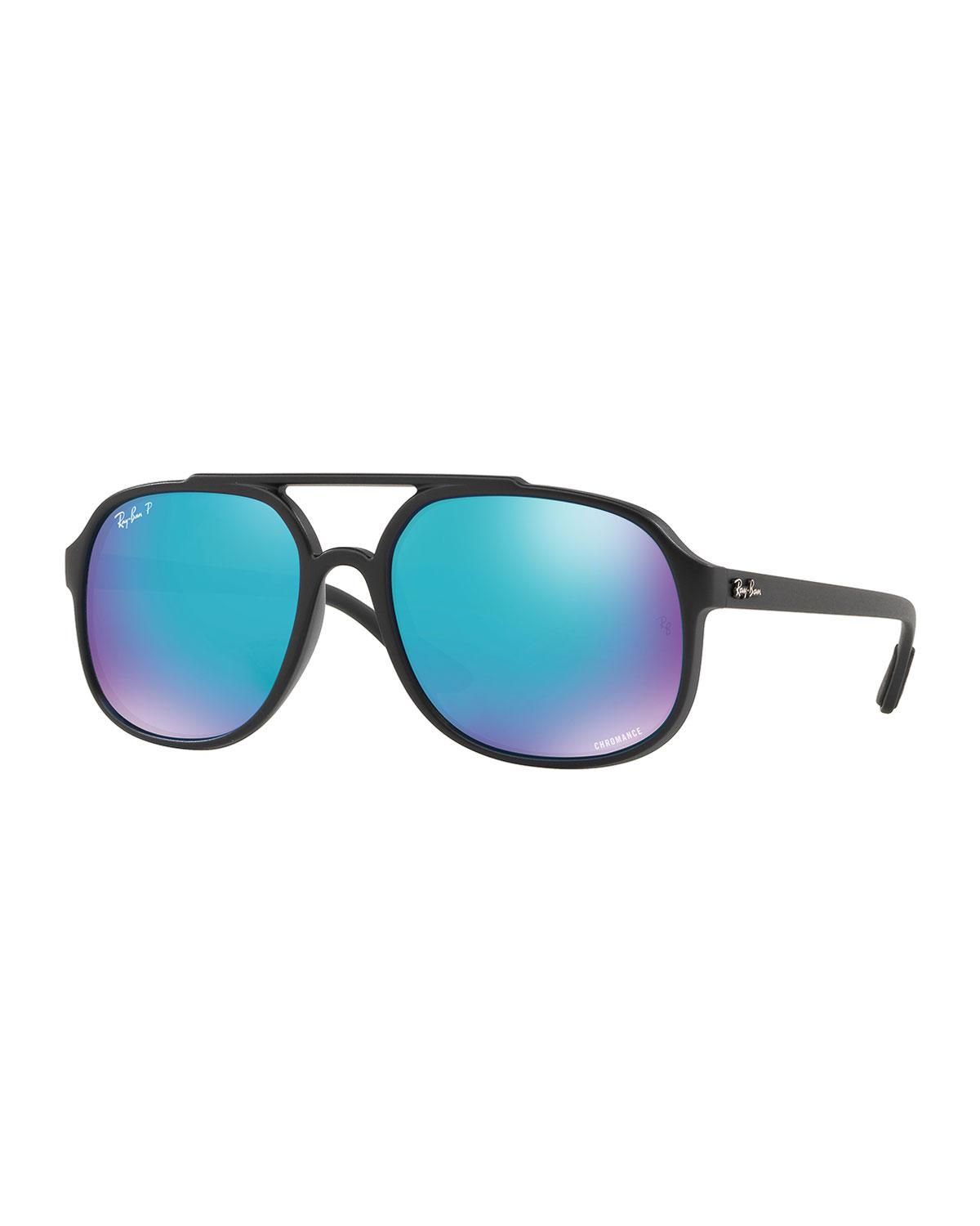 4ff8c08ed20 Lyst - Ray-Ban Men s Rb4312 Aviator Propionate Sunglasses in Black ...