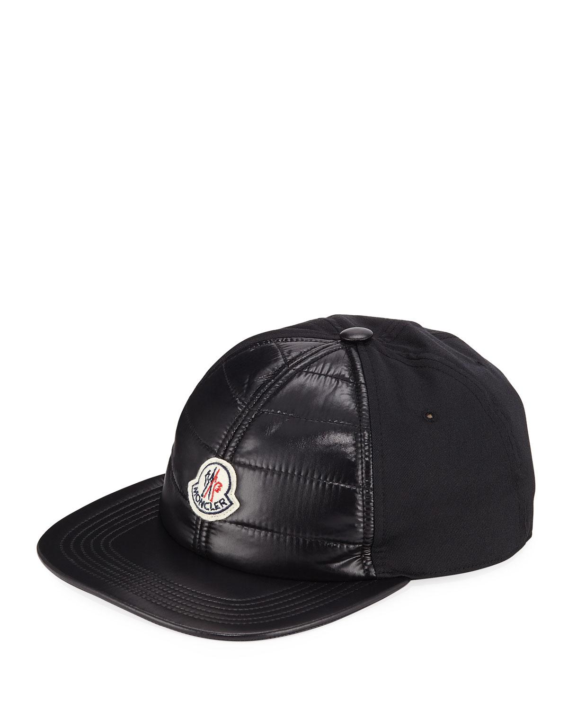 8ac149bf128 Lyst - Moncler Men s Quilt-front Baseball Cap in Black for Men