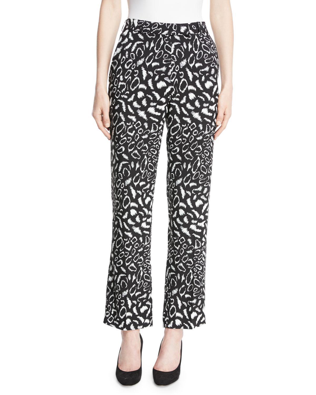 Bulk Designs Printed Crepe Straight-leg Pants - Black Etro Online Cheap Online Wholesale Price Cheap Price Outlet Ebay Sale Shop For OyfuNMfW