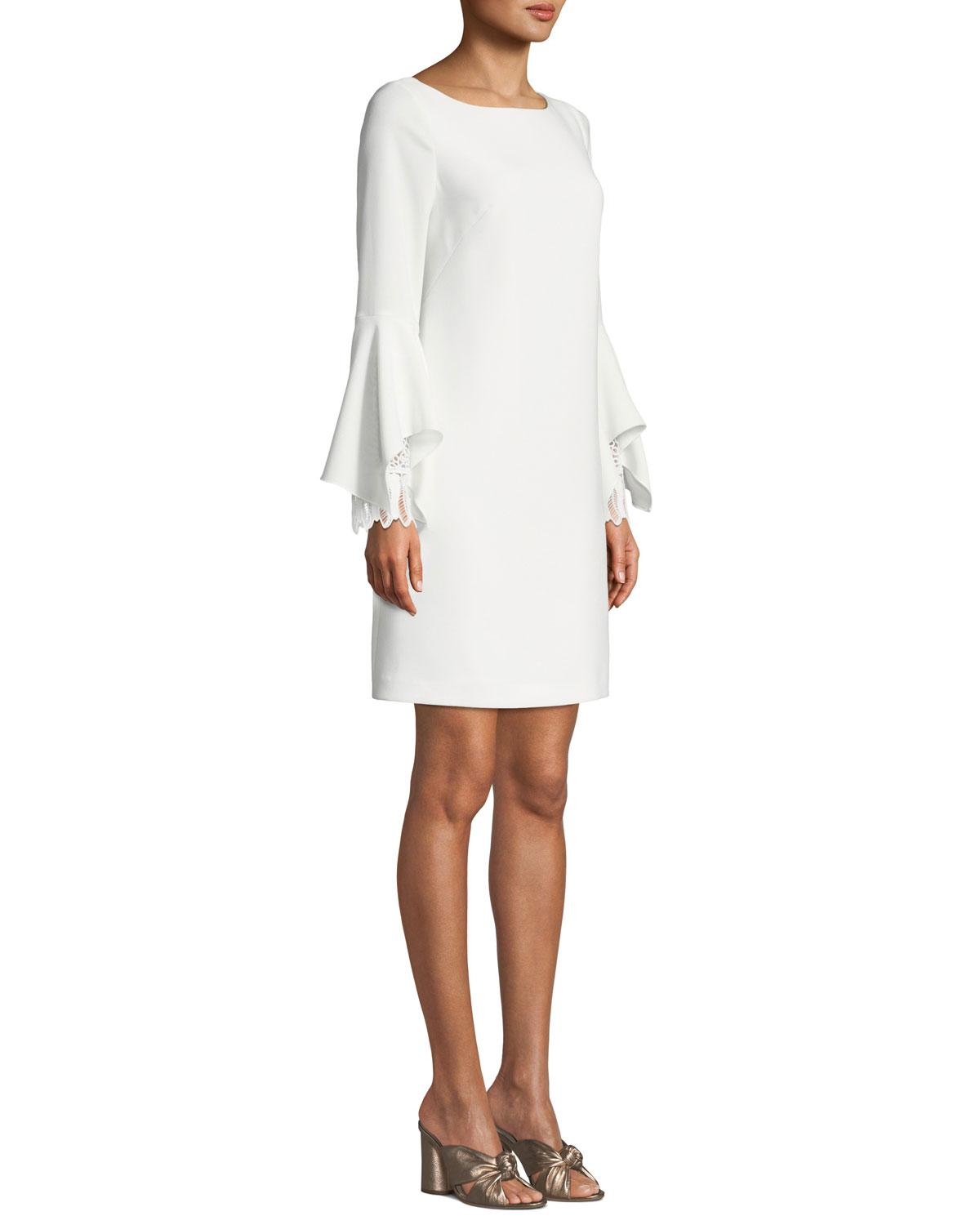 3041217b951e Lyst - Elie Tahari Dori Boat-neck Flared-sleeve Sheath Dress in ...