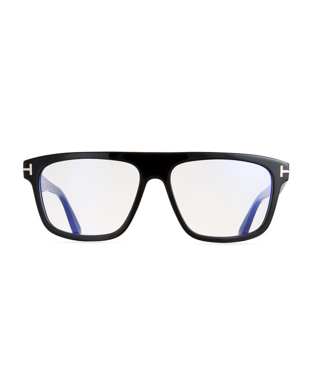 923761b6a106 Lyst - Tom Ford Men s Rectangular Acetate Eyeglasses in Black for Men