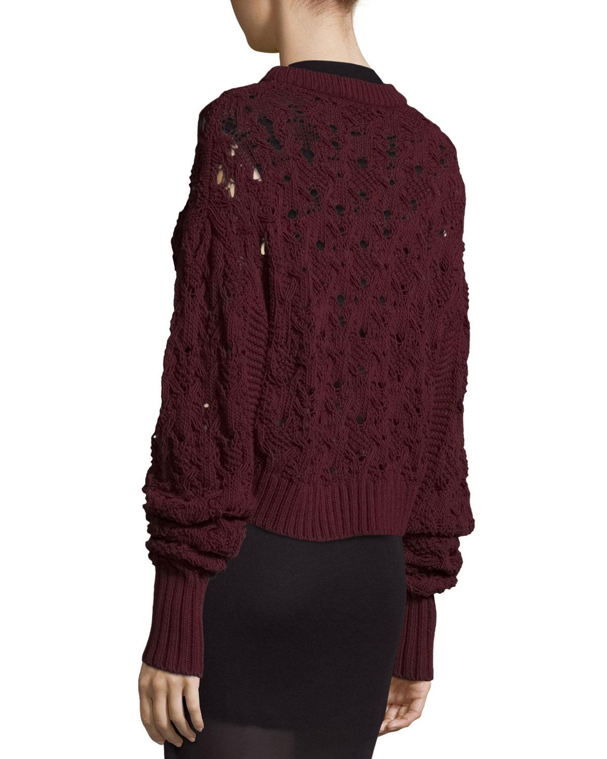 Public school Seed-stitched Cable-knit Pullover Sweater in Purple ...