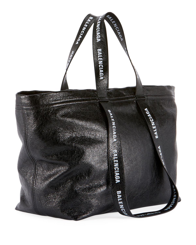 Lyst - Balenciaga Men s Small Logo-print Leather Carry Shopper Tote Bag in  Black for Men 07b170eef36fc