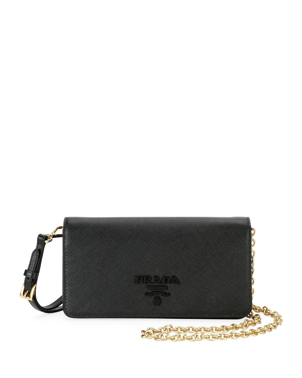 365cedefcb41 Prada Monochrome Mini Bag in Black - Lyst