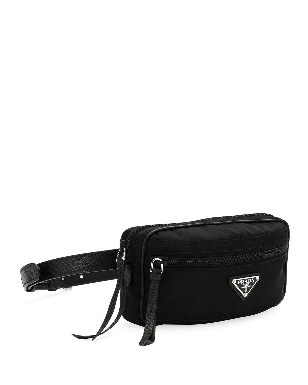 655fdff99036 Lyst - Prada Nylon Belt Bag in Black