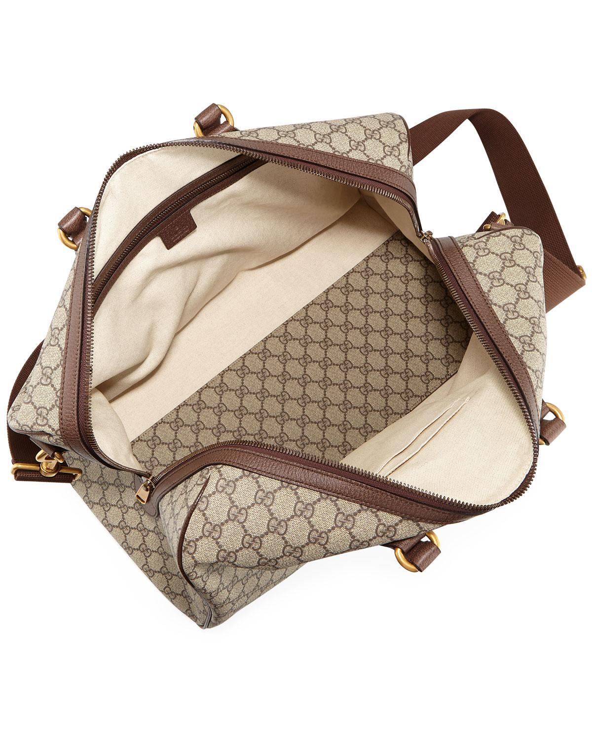 92a39025e9e Lyst - Gucci Men s Soft GG Supreme Carry-on Duffel Bag in Natural for Men