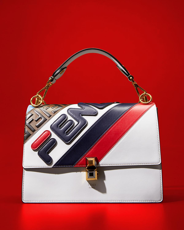 ce5ce2816108 Lyst - Fendi White Mania Kan I Bag in White