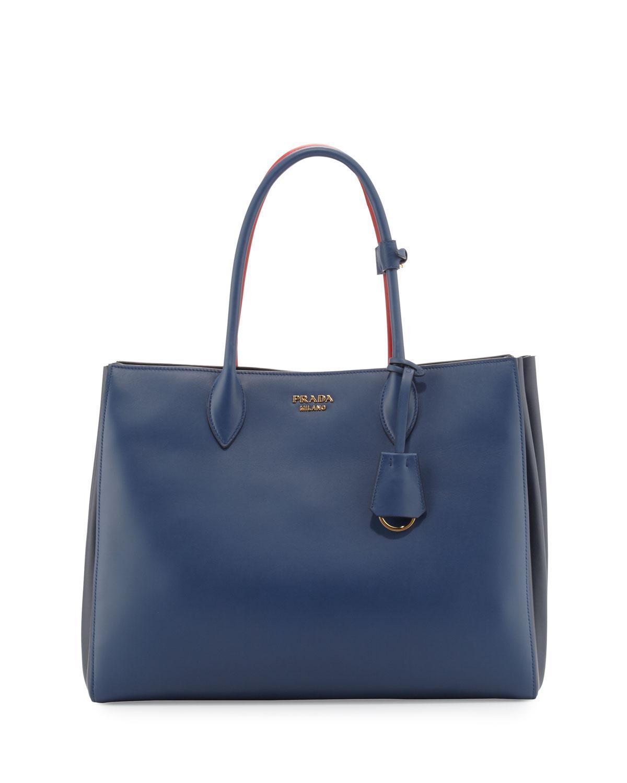 Lyst - Prada City Accordion Tote Bag in Blue 954ddc6fe5