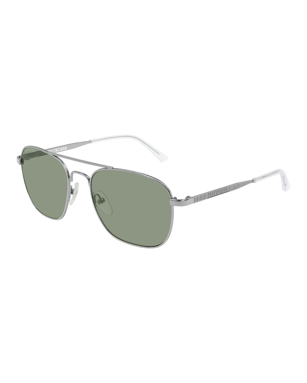 0e6190ce5984 Balenciaga - Gray Men's Man Metal Aviator Sunglasses for Men - Lyst. View  fullscreen