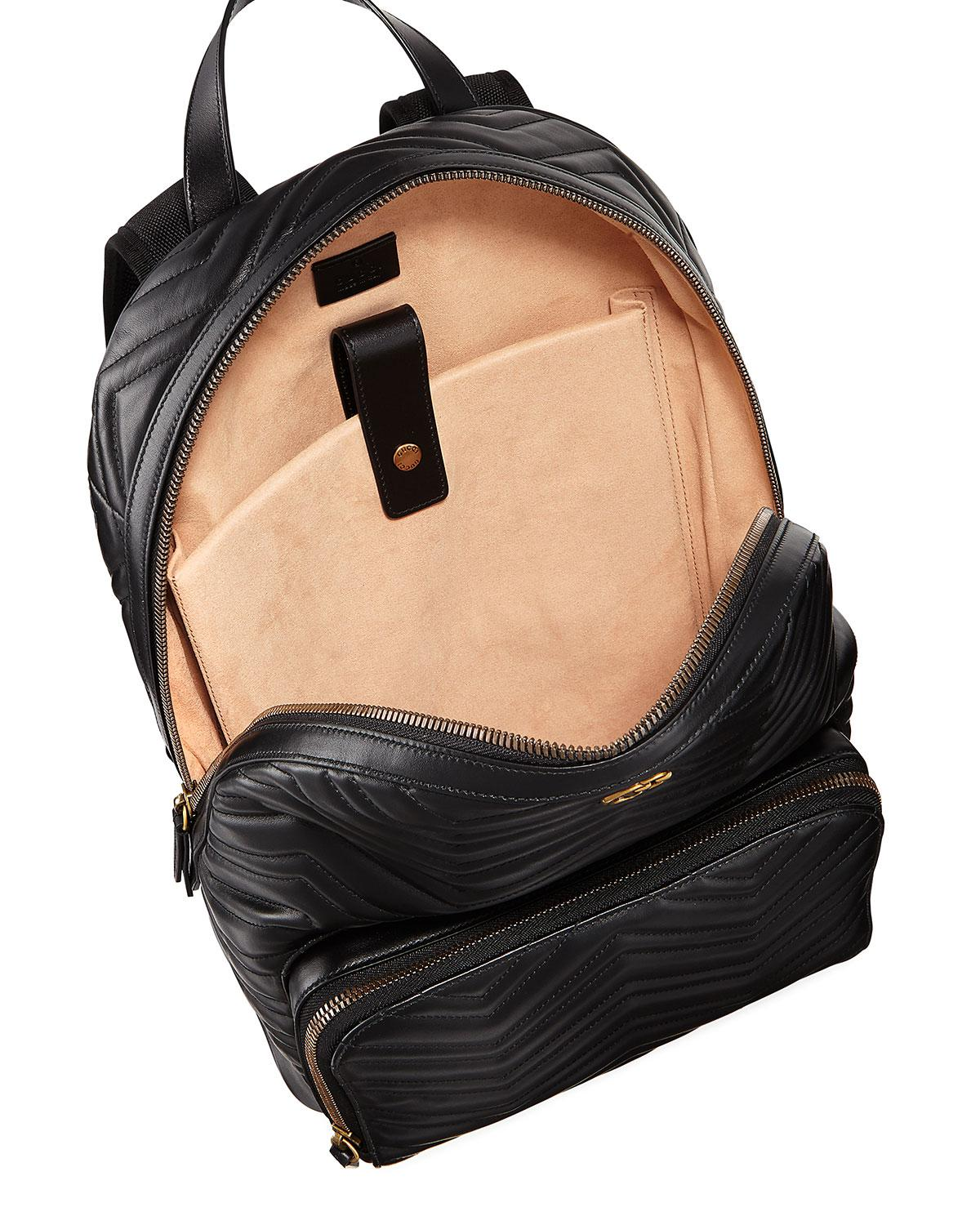 96171435b933 Gucci Men's GG Marmont Quilted Leather Backpack in Black - Lyst